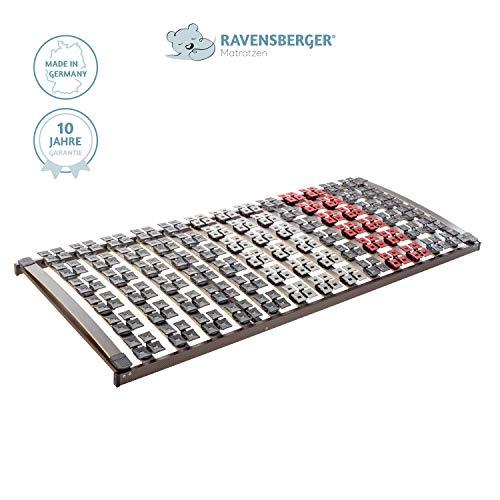 Ravensberger Matratzen Lattenrost Premium (Variflex) FIX 5-Zonen Buche Systemtellerrahmen | Starr | 4-Fach Segmentteller-Federelementen | Made IN Germany - 10 Jahre GARANTIE | 90 x 200 cm