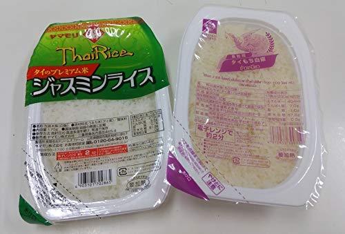 弁次郎商店 タイ王国産 もち米 無菌米販 レトルトパック6個 とジャスミン米レトルト6個(6+6)+バスマティ籾玄米3P