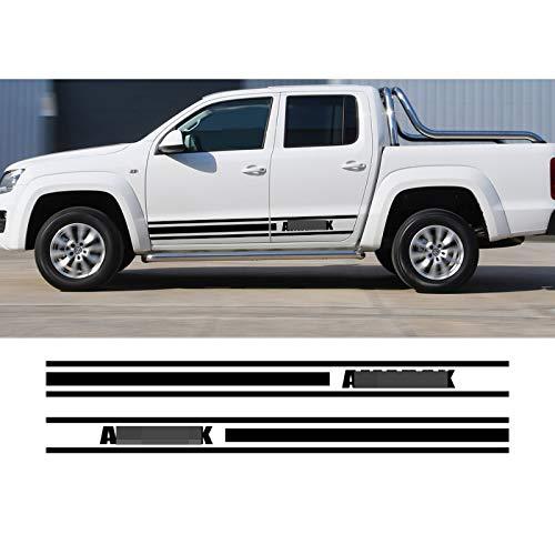 ASDFGZXC Auto Pegatinas de Calcomanías Body Stripe Lateral, para camioneta VW Amarok,...