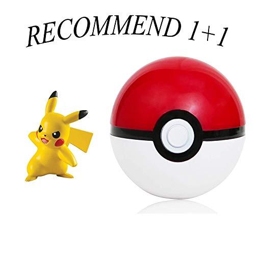 Lsxszz8 Pokémon Ball und Seine Figur 5 cm Pikachu + (kostenlos 2 Stück Monster 2,5 cm)