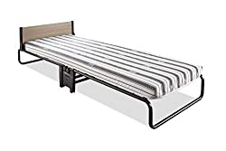 British made with lifetime frame guarantee J-Tex Sprung Base system for complete durability, support and comfort Breathable Airflow fibre mattress Patent Pending folding mechanism for optimum space saving Exceeds British and European safety standards...
