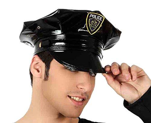 Angel prises S.A. – Chapeau Police en cuir synthétique, couleur Noir