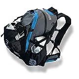 CADOMOTUS Waterflow Sportrucksack 30+15L - Wasserdichter Rucksack aus Segeltuch - Fahrrad Rucksack - Triathlon Sporttasche - MTB Rucksack - Skate Bag - Ultraleicht mit Helmfach und Schuhfach - Blau