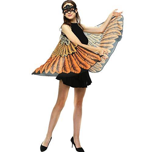iYmitz Damen schmetterlingsflügel Kostüm Faschingkostüme Schmetterling Schal Flügel Weihnachten Kostüm Cosplay Karneval Fasching Kostüm