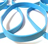 Blue Non-Latex Heavy-Duty Rubber Bands | Pack of 6 Premium Rubberbands - Use for Office Home RC Camp Hike Fishing Bundle + Pros Use (Size # 64 3 1/2' x 1/4' inch) Large Lg Pk Kit Bands