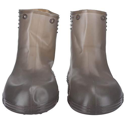Mxzzand Protector De Zapatos, Cubrezapatos De Lluvia Cubre Zapatos De Lluvia De Tacón Plano Cubre Botas De Lluvia Impermeables Cubre Tobillo Botas Altas para Hombres Y Mujeres Ciclismo Al Aire
