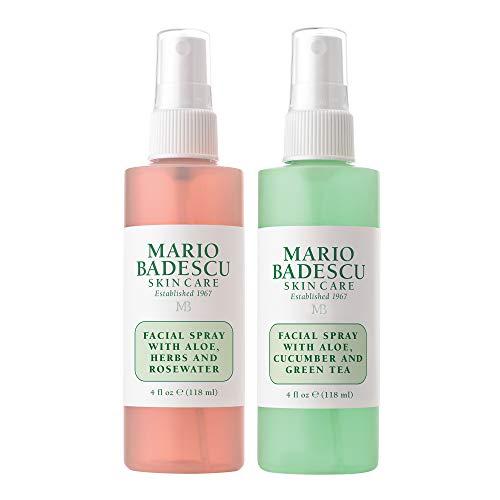 Mario Badescu Facial Spray With Rosewater Facial Spray With Green Tea Duo 4 Oz 8 Fl Oz