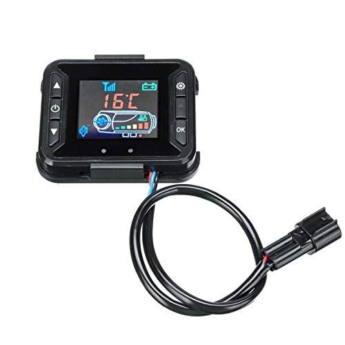 Cosye Monitor pequeño LCD de 12 V, Aparcamiento de Aire, Calentador de calefacción diésel, Controlador, Interruptor, Accesorios para Coche y camión, Mando a Distancia