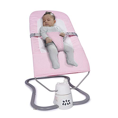 Baby Swing for Infants, Soothing Portable Swing Comfort Electric Baby Rocking Chair, Bluetooth Music Speaker with 10 Preset Lullabies & Remote Control, Can be Used The Beginning of The Newborn-Pink