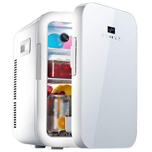 BLLXMX Mini refrigerador de 20 litros, refrigerador eléctrico de Caja fría para automóvil AC / 12V DC Enfriador y Calentador termoeléctrico portátil para Dormitorio, hogar y Viajes