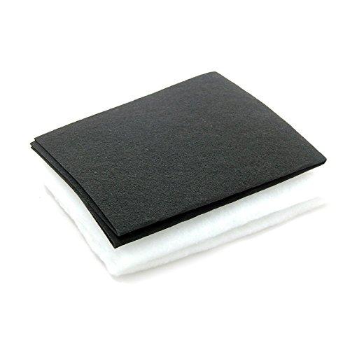 Invero® - Campana extractora de cocina y filtro de grasa de carbón, 2 en 1, 57 cm x 47 cm
