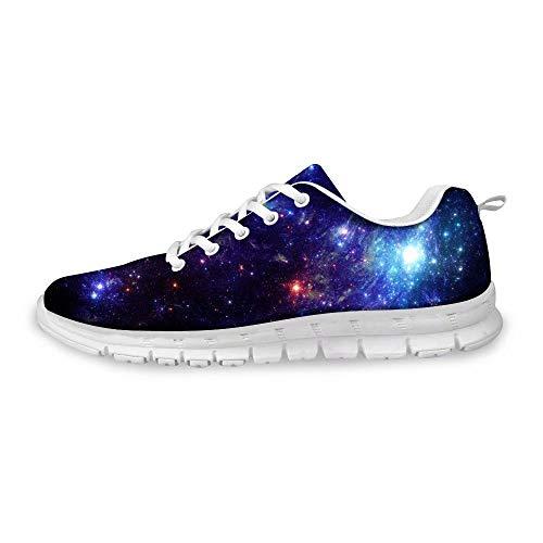 MODEGA Galaxie-Druck-Schuhe bunt schillernde Schuhe Reisen Schuhe Männer Schuhe Frauen Plus Größe Bowlingschuhe billig kühle Schuhe böhmische Schuhe Frauen Laufen Plus Größe 40 EU 6 UK