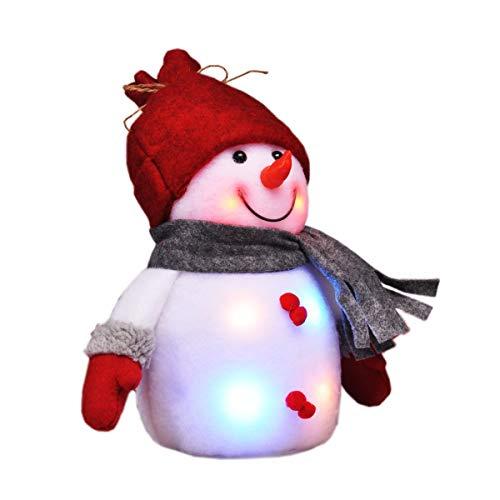 Gravidus - Dekorativer Schneemann mit bunten LEDs | Weihnachtsbeleuchtung, Weihnachtsfigur, LED-Weihnachtsdeko 2X warm-weiß / 4X bunt | innen Fenster-Deko | Höhe ca. 24 cm