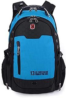 "Swissgear Waterproof Deluxe Backpack Laptop 15.6"" Bag with Rain Cover - Blue"