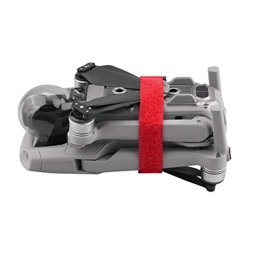 Iunser Accesorio para dron Uav Blade Leaf Holder Magic Cable Tie, Hélices Fixator Correa Estabilizador Soporte de protección para Dji Mavic Air 2(Rojo)