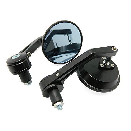 ZMJYH Motocicleta Retrovisor, para Scooter Ducati Motorcycle Manillar Bar End Mirror Retroview Mirror Universal,Model 1