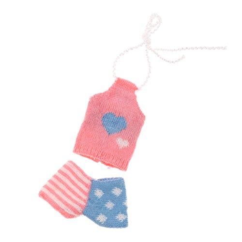 Sharplace 28-30cm Kurhn Doll Fit Clothing - Chaleco de Lana + Shorts para Traje de Vestido de Muñeca 1/6