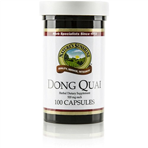 Naturessunshine Dong Quai Herbal Food Supplement 520 mg 100 Capsules (Pack of 2)
