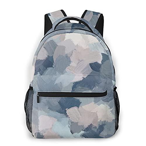 JUQIAO Mochilas de color rosa azul para libros escolares bolsas de transporte de la universidad bolsa de transporte ligero viaje deportes Daypacks, gris, Talla única