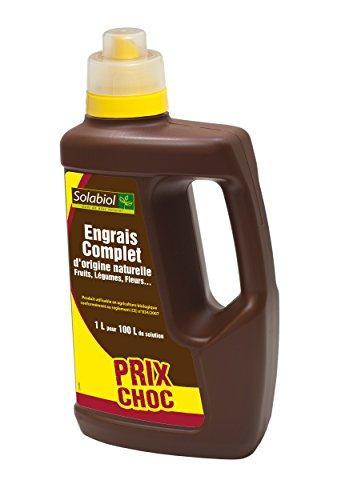 Solabiol SOLICOMP1 Engrais Complet Liquide 1L - Engrais universel | Utilisable en Agriculture...