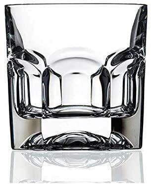 LLM Galsses Vino Taza de Cerveza del Vidrio de Vino Whisky Gafas/de Vidrio con patrón de Corte de Vidrio de 600 ml - Cristal de Plomo Libre del Claro Vaso Highball - 180ml