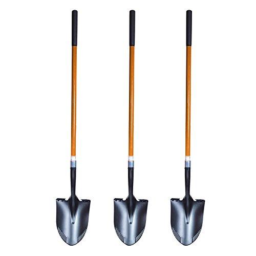 3 St. FRONTTOOL Spatenschaufel 2in1 SET - Amerikanische Form Schaufel und Spaten in einem, die perfekte Kombination von 2 Werkzeugen