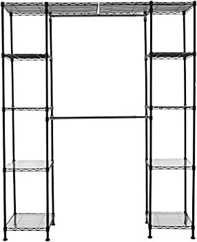 AmazonBasics Expandable Metal Hanging Storage Organizer Rack