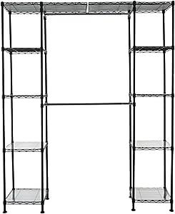 AmazonBasics - Sistema organizador de armario extensible, Negro