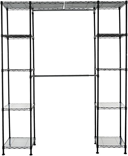 Amazon Basics Expandable Closet Organizer - Black