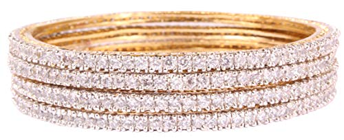 Shiv-Collection Asian Style Ethnic Beautiful Style Gold Plated Indian Bangle Partywear Jewellery (2.6)