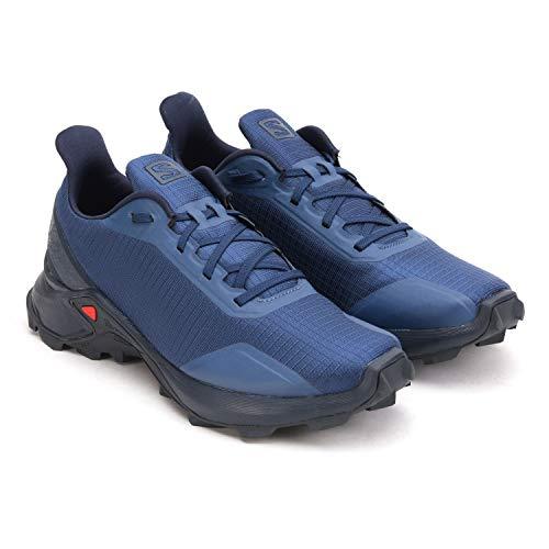 Salomon Men's ALPHACROSS Trail Running Shoe, Sargasso Sea/Navy Blazer/India Ink, 9.5