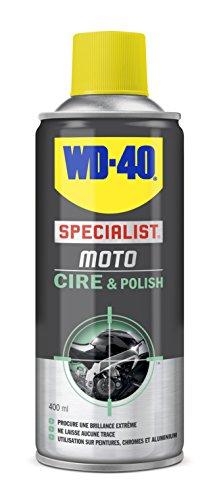 WD-40 Specialist Moto Cire et Polish Aérosol Extrême brillance et longue durée Contient de la cire de Carnauba et de la cire d'abeilles Ne laisse pas de trace 400 ML