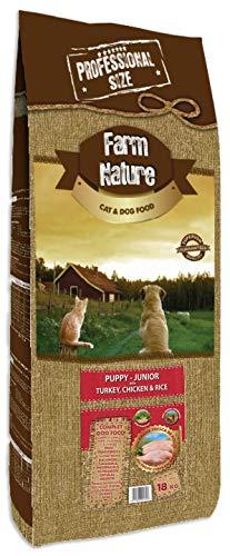 18 KG Farm nature turkey/chicken with rice junior hondenvoer