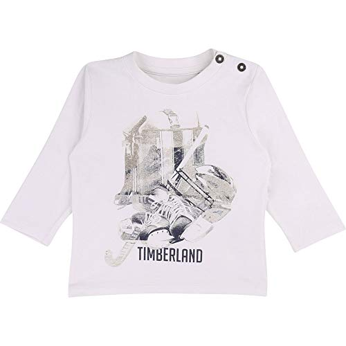Timberland T-Shirt Jersey Coton boutonné Layette Blanc 12MOIS