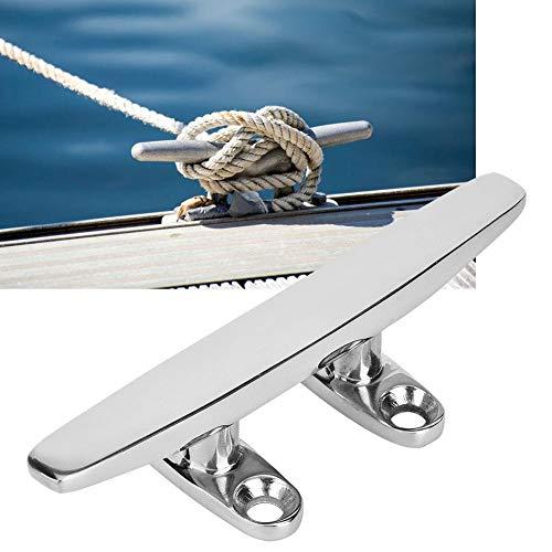 Basisplaat, roestvrijstalen basisplaat, spiegel gepolijst bootlicht Accessoire basisplaat, bestand tegen roest en corrosie, strak, glad en vloeiend oppervlak, geen schade aan het touw(5in)