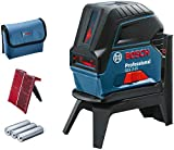 Bosch Professional Nivel láser GCL 2-15, Láser rojo, puntos de plomada, alcance: 15 m, 3 pilas AA,...