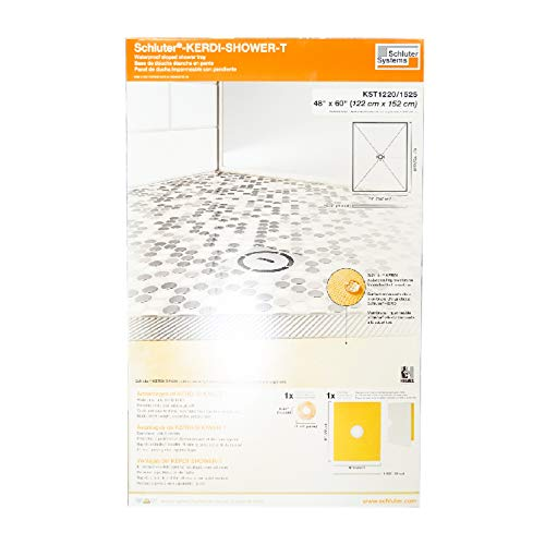 Schluter Kerdi 48-Inch x 60-Inch Center Drain Shower Tray
