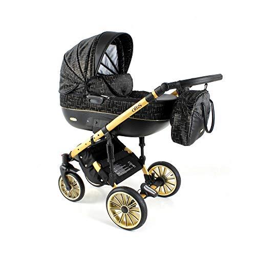 Kinderwagen 3in1 2in1 Set Isofix Buggy Babywanne Autositz Ottis Go by SaintBaby Gold OG-01 2in1 ohne Babyschale