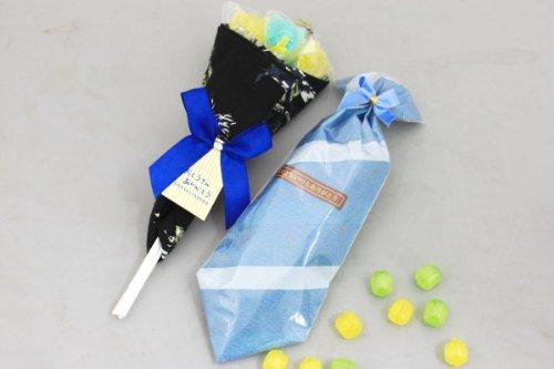 父の日 プレゼント キャンディーブーケハンカチ包みセット