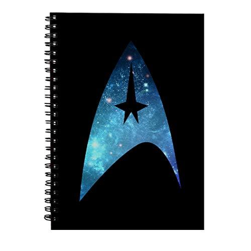 Star Trek Galaxy Silhouette Star Fleet Logo Spiral Notebook