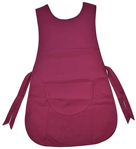 MCC Trading Damen Kasack Schürze Gastro-Arbeitskleidung Überwurfkasack Überwurfschürze (Rot)