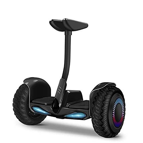 Hoverboard, Hoverboard de Scooter Auto-équilibré de 10 Pouces avec Haut-Parleur Bluetooth, Bluetooth intégré, avec lumières LED, Moteur 700W, Cadeau pour Enfants, Adolescents et Adultes,36v Black