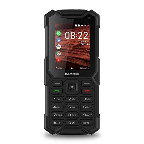 "Hammer 5 Smart 4g LTE KaiOS, Bluetooth, 2.4"" Pantalla, IP68, Dual Cámara, 2500mAh batería, Dual SIM - Negro"
