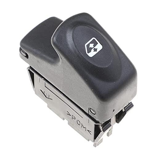 WANGXI Botón regulador del Interruptor de Control del elevalunas eléctrico del Coche,para Renault Kangoo (KC0 KC1 FC0 FC1) 1997-2014 MPV, 7700838101 7700432962 8200467793