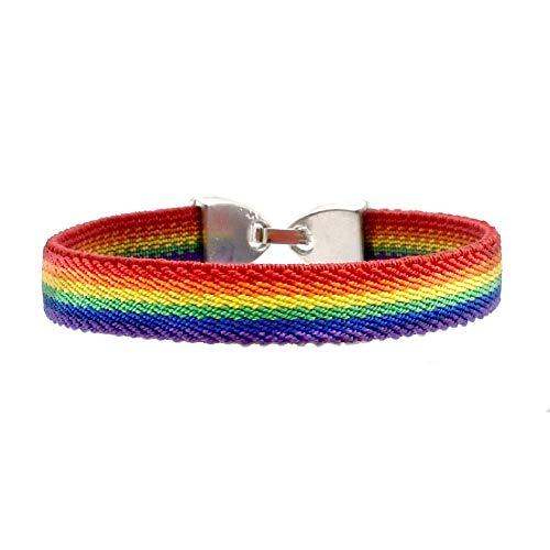 BDM Pulsera Orgullo Gay, LGTBI, Lesbianas, LGBT, Trans y Arcoiris. Medida 15-17 cm.