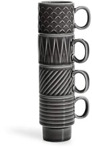 Sagaform 5018070 Coffee & More Espresso Tassen, Steingut
