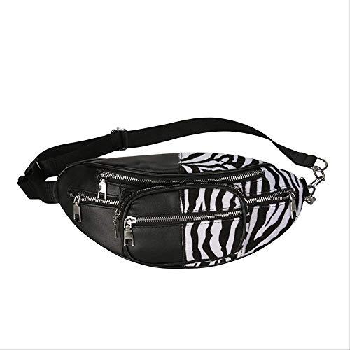 Yywl Tas Kwaliteit Zebra Patroon Borduurwerk Pu Lederen Ketting Tas Reizen Mode Fanny Pack Vrouwen Catwalk Belly Band Riem Tas