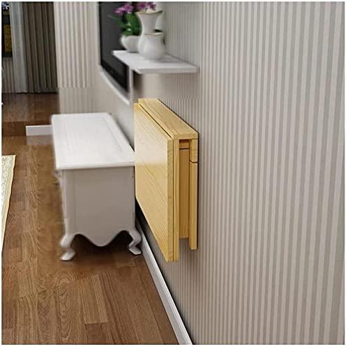 Mesa plegable para colgar en la pared, ahorro de espacio, pequeño estante de almacenamiento de escritorio flotante, multifuncional, para lavandería, hogar, bar, cocina (color: 120 x 50 cm), 70 x 40 cm