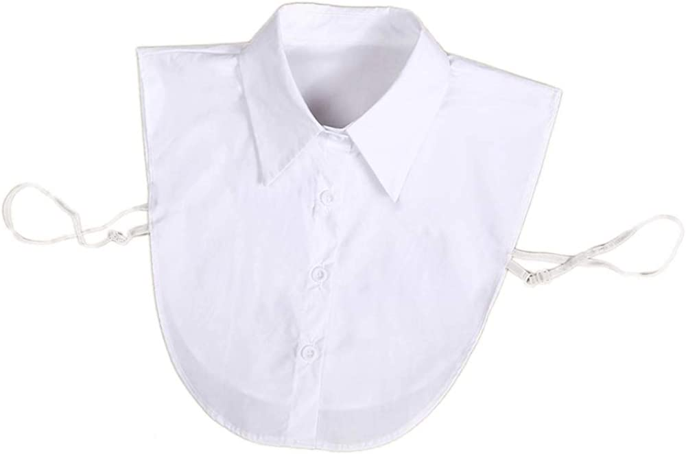 Zone Star 2 Piece Fake Collar Detachable Dickey Collar Blouse Half Shirts False Collar for Girls and Women