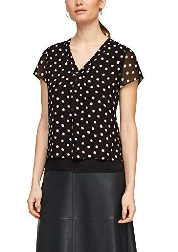 s.Oliver BLACK LABEL Damen 150.10.103.10.100.2100870 Bluse, Black dots, 42